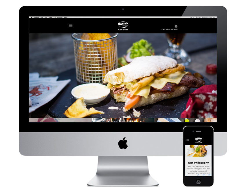Terra Viva Cafe Website